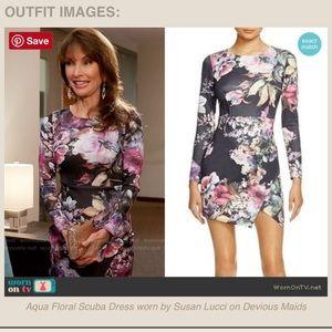 NWT seen on TV Aqua by Bloomingdales floral dress!